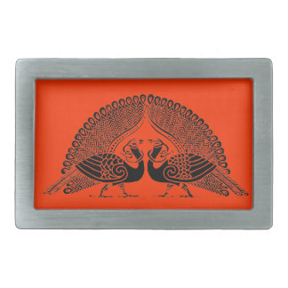 Color Your Own Peacocks Belt Buckle