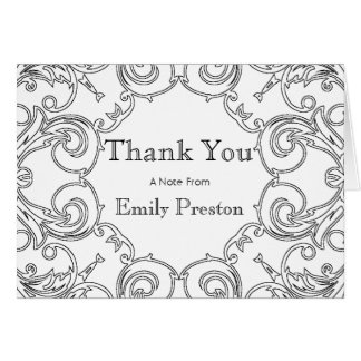 Color Your Own Personalized DIY Thank You Card