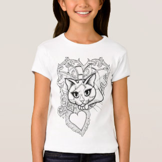 Color Your Own Valentine Fairy Cat Fantasy Shirt
