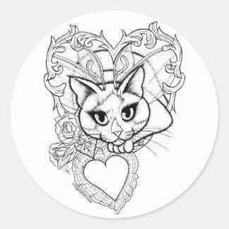 Color Your Own Valentine Fairy Cat Fantasy Sticker