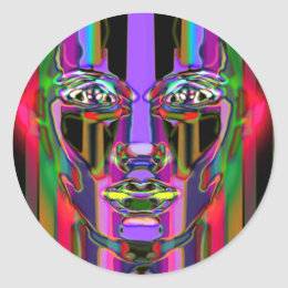 color your soul classic round sticker