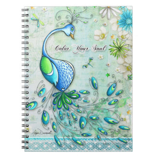 Color Your Soul Peacock Notebook