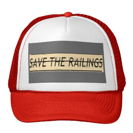 Color your world and save the railings! trucker hat