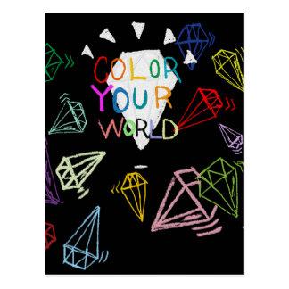 color your world postcard