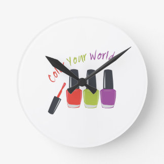 Color Your World Round Clocks