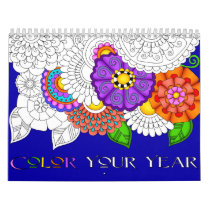 Color Your Year Custom Printed Calendar
