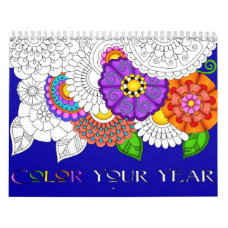 Color Your Year Custom Printed Calendar