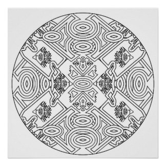 color yourself mandala poster art coloring fish - Posters To Color