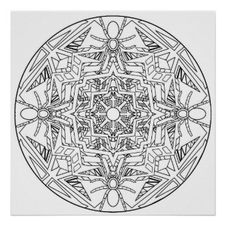 Color Yourself Mandala Poster Spiders Bugs Poster