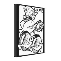 Color Yourself Tropical Fish design Wall Canvas