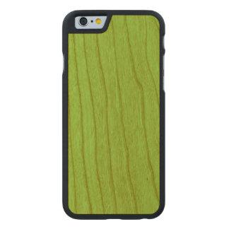 Color Zesty de la lima agria Funda De iPhone 6 Carved® De Cerezo
