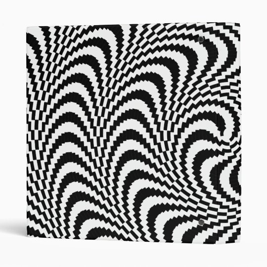 Colorable Optical Block Spiral 3 Ring Binder