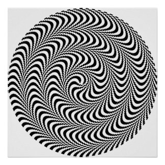 Colorable Optical Block Spiral Posters