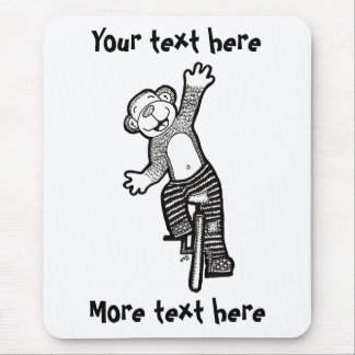 Colorable Unicycle Monkey Mouse Pad