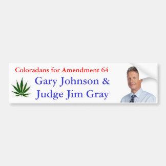 Coloradans para la enmienda 64 etiqueta de parachoque