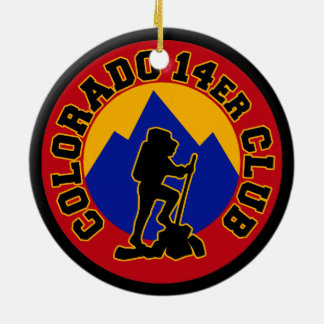 Colorado 14er Club Christmas Tree Ornament