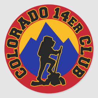 Colorado 14er Club Classic Round Sticker
