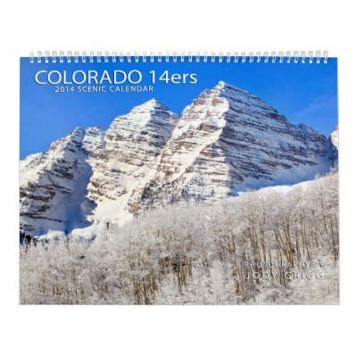 Colorado 14ers 2014 calendario de pared