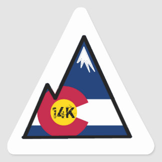 colorado 14k peak bagger triangle sticker