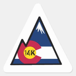 colorado 14k peak bagger triangle sticker