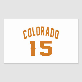 Colorado 15 Birthday Designs Rectangular Sticker