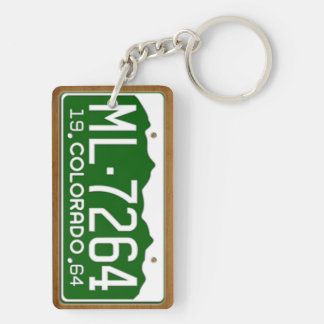 Colorado 1964 Vintage License Plate Keychain Rectangle Acrylic Key Chain