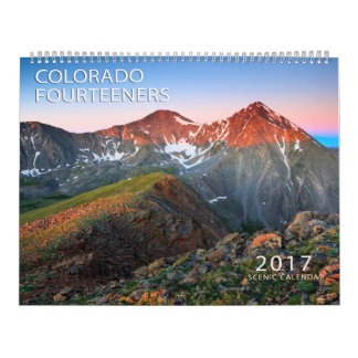 Colorado 2017 Fourteeners Calendarios De Pared