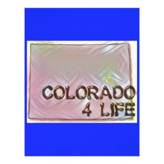 """""""Colorado 4 Life"""" State Map Pride Design Letterhead"""
