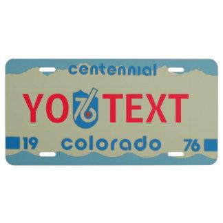 Colorado 76 Special Edition License Plate