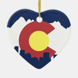 Colorado Adorno Navideño De Cerámica En Forma De Corazón