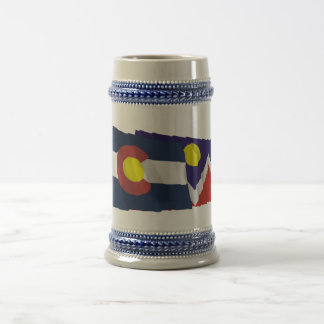 Colorado and Denver Flags Beer Stein