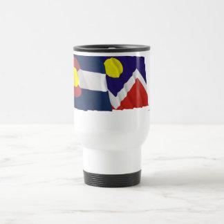 Colorado and Denver Flags Travel Mug