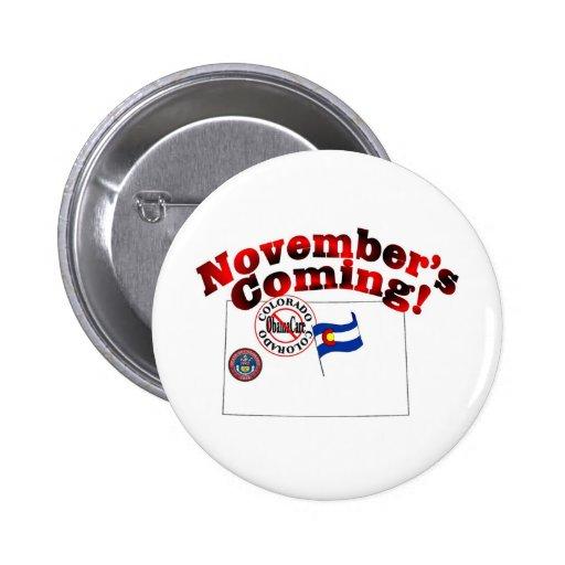 Colorado Anti ObamaCare – November's Coming! Pins