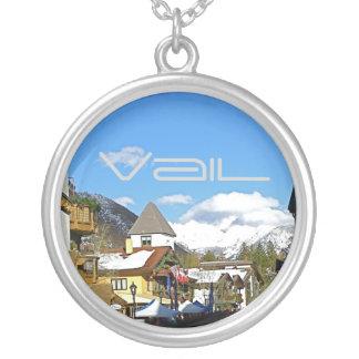 Colorado Apres Ski Round Pendant Necklace