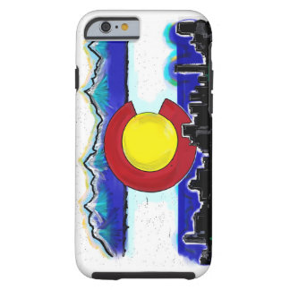 Colorado artistic skyline iPhone 6 case