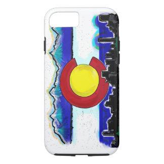 Colorado artistic skyline iPhone 7 case