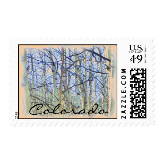 Colorado aspen tree stamp