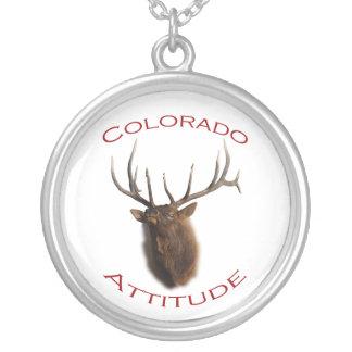 colorado attitude round pendant necklace