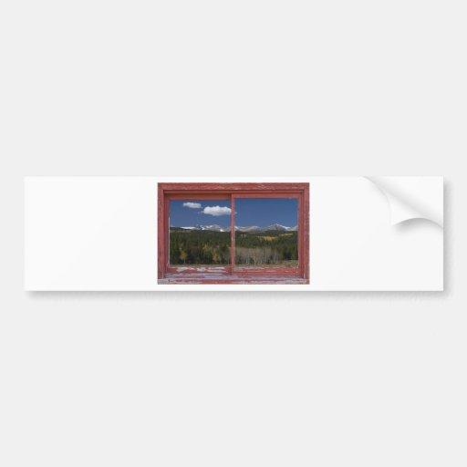 Colorado Autumn Picture Window Frame Art Photos Bumper Sticker