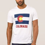 COLORADO: Bandera del estado de Colorado Camisetas