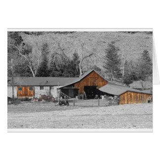 Colorado Barn Boulder County Greeting Card