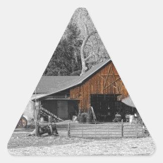 Colorado Barn Boulder County Triangle Sticker