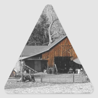 Colorado Barn Boulder County Triangle Sticker