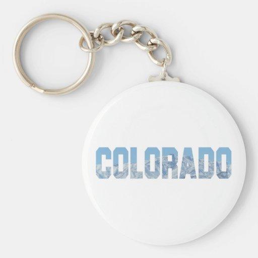 Colorado Basic Round Button Keychain