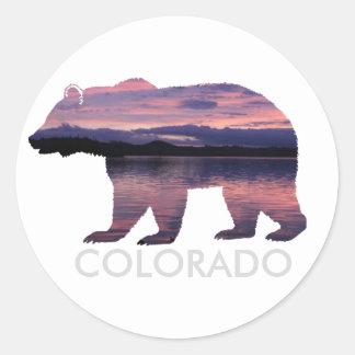 Colorado Bear | Sunset | Circle Sticker