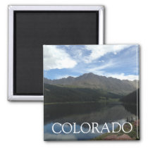 Colorado Beautiful Mountains & Serene Lake Magnet