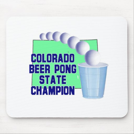 Colorado Beer Pong Champion Mousepads