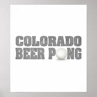 Colorado Beer Pong Poster
