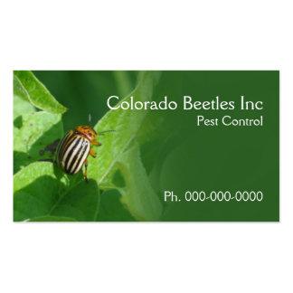 Colorado beetle pest control business card
