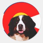 Colorado Bernese Mountain Dog Round Sticker